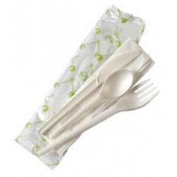 Set Cubiertos Compostables 4/1